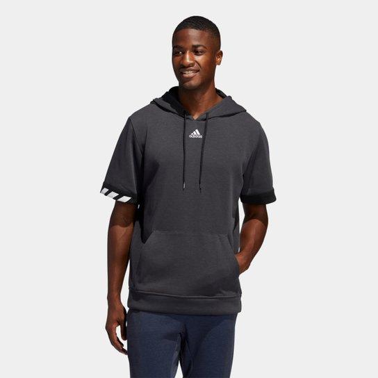 Blusa Adidas 365 c/ Capuz Masculina - Chumbo