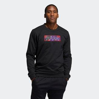 Blusa Adidas Moletom MIC Graphic Crew Masculina