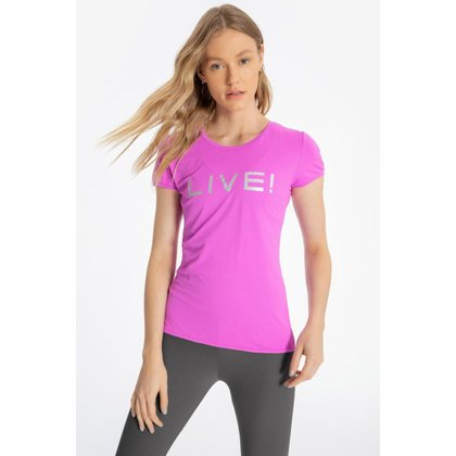 Blusa Basic LIVE! Holographic - Cyber Pink - G - LIVE!