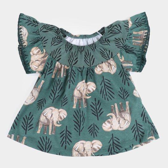 Blusa Bebê Nanai Bata Elefante Feminina - Verde