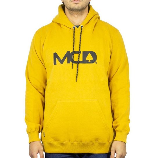 Blusa Canguru Mcd Fech Masculino - Amarelo