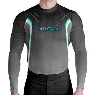 Blusa Compressão Black Fusion Atlética Esportes