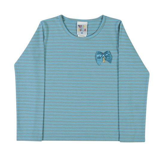 Blusa Cotton Listrado - Azul