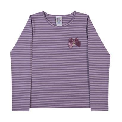 Blusa Cotton Listrado-Feminino