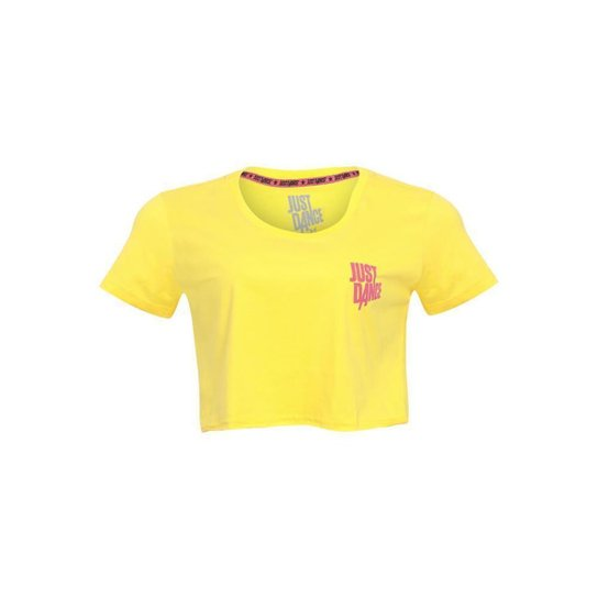 Blusa Cropped Layers Just Dance Ubisoft Masculina - Amarelo