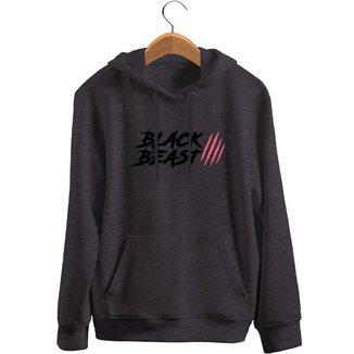 Blusa de Frio Black Beast Moletom Mod2 - Preto - P