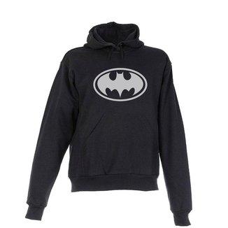 Blusa De Frio Moletom Batman Infantil Juvenil Preta