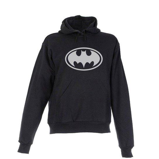 Blusa De Frio Moletom Batman Infantil Juvenil Preta - Preto