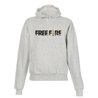 Blusa De Frio Moletom Free Fire Infantil Juvenil Cinza