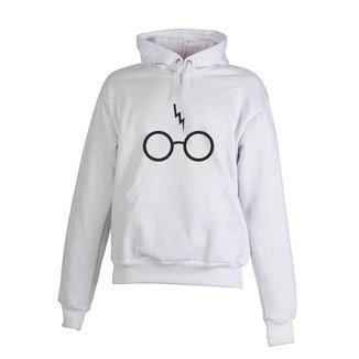 Blusa De Frio Moletom Harry Potter Infantil Juvenil Branco