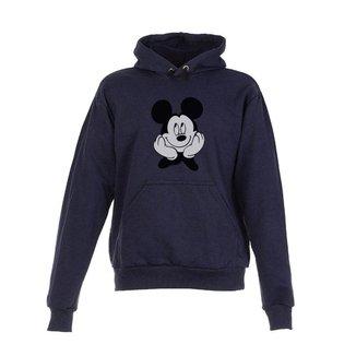 Blusa De Frio Moletom Mickey Infantil Juvenil Azul Marinho