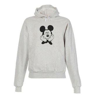Blusa De Frio Moletom Mickey Infantil Juvenil Cinza