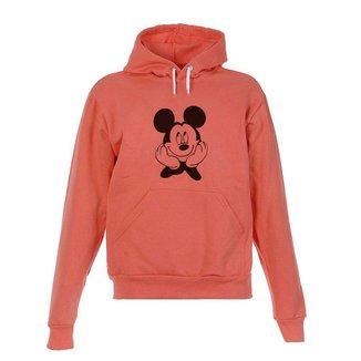 Blusa De Frio Moletom Mickey Infantil Juvenil Coral