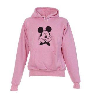 Blusa De Frio Moletom Mickey Infantil Juvenil Rosa