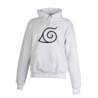 Blusa De Frio Moletom Naruto Infantil Juvenil Branco
