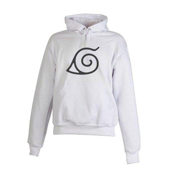 Blusa De Frio Moletom Naruto Infantil Juvenil Branco - Branco