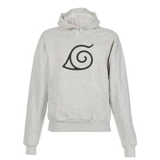 Blusa De Frio Moletom Naruto Infantil Juvenil Cinza