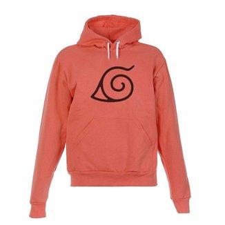 Blusa De Frio Moletom Naruto Infantil Juvenil Coral