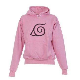 Blusa De Frio Moletom Naruto Infantil Juvenil Rosa