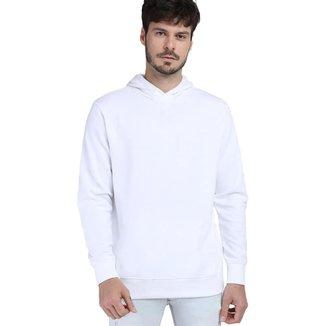 Blusa de Moletom Liso  Com Capuz Básico  Di Nuevo Masculina