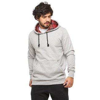 Blusa de Moletom Masculino Canguru High Quality-CINZACLARO-GG