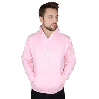 Blusa De Moletom Rosa Capuz Bolso Canguru Rosa