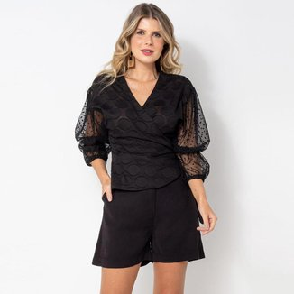 Blusa Elora Textura Poá Feminina