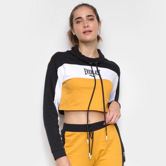 Blusa Everlast Colorblock Feminina - Preto+Amarelo
