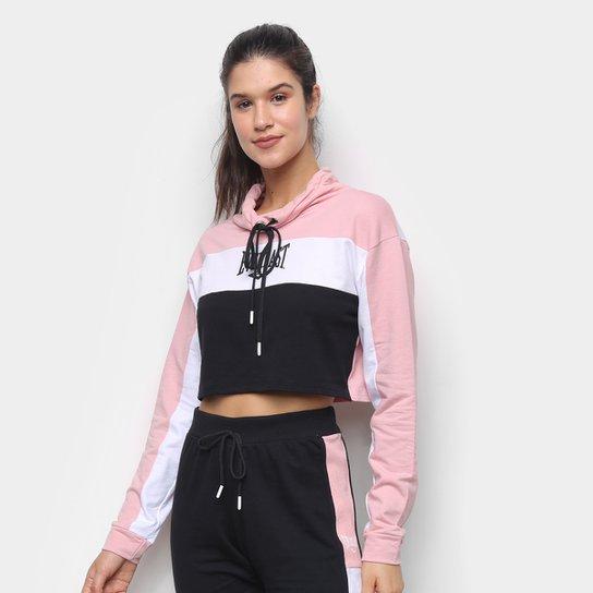 Blusa Everlast Colorblock Feminina - Rosa+Preto