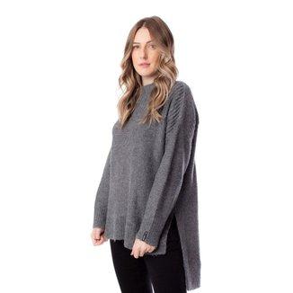 Blusa Feminina Biamar em tricô Oversized Cinza Escuro