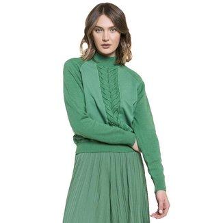 Blusa Feminina Biamar Trançada Verde