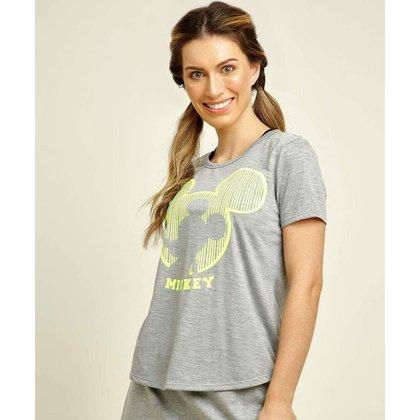 Blusa Feminina Fitness Estampa Mickey Disney - 10048588522
