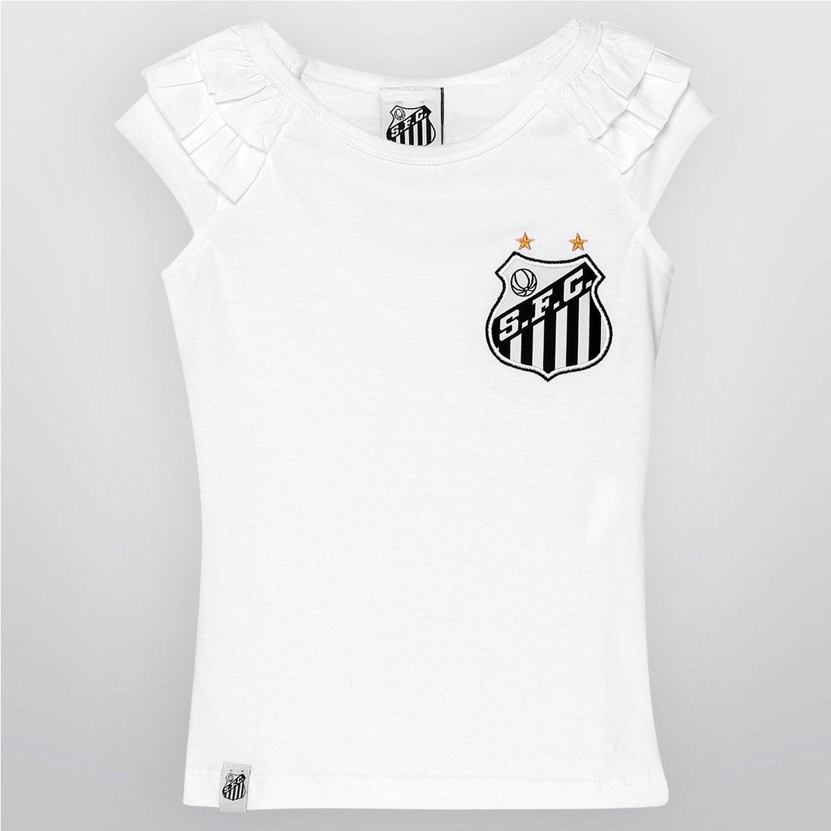 7fe16b4b381b7 Blusa Feminina Santos Babados Infantil - Compre Agora