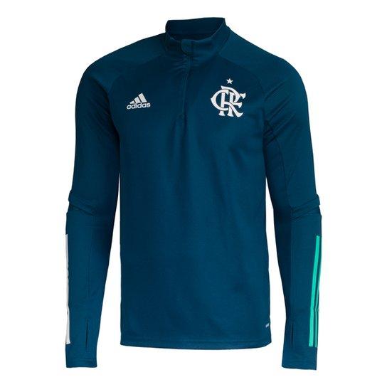 Blusa Flamengo Treino 20/21 Adidas Masculina - Azul