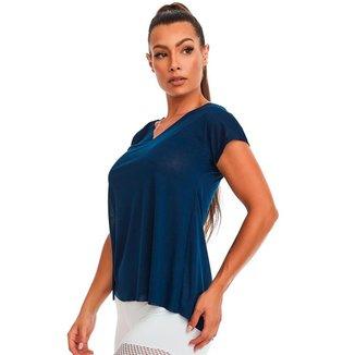 Blusa Gola V Básica Azul Marinho Tamanho:GG
