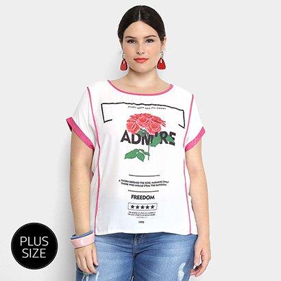 1377cc2f88120f Blusa Holin Stone Plus Size Estampada Feminina