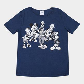 Blusa Infantil Disney Mickey e Amigos Feminina
