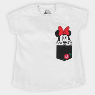 Blusa Infantil Disney Minnie Flower Feminina