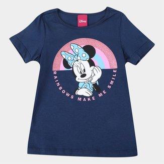 Blusa Infantil Disney Minnie Mouse Rainbown Feminina