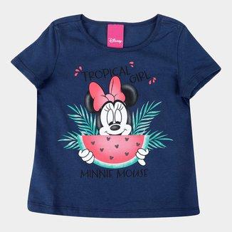 Blusa Infantil Disney Minnie Mouse Tropical Girl Feminina