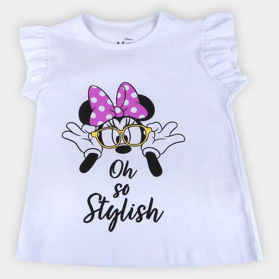 Blusa Infantil Disney Oh Stylish Minnie Feminina - Branco