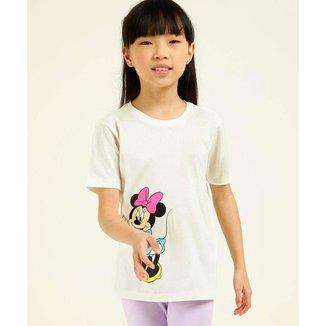 Blusa Infantil Estampa Minnie Disney Tam 4 A 10 - 10048015523
