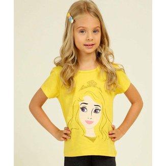 Blusa Infantil Estampa Princesa Aurora Disney Tam 4 A 10 - 10046246752