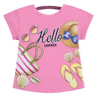 Blusa Infantil Kyly Hello Summer Feminina