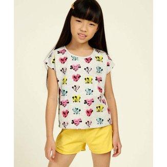 Blusa Infantil Mickey Minnie Disney Tam 4 A 10 - 10046848604