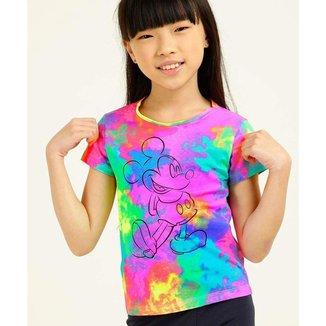 Blusa Infantil Tie Dye Estampa Mickey Disney Tam 4 A 8 - 10047575042