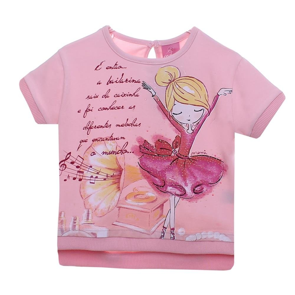 Feminina Infantim Blusa Blusa Momi Bailarina Rosa Infantim 5qEXRwZx