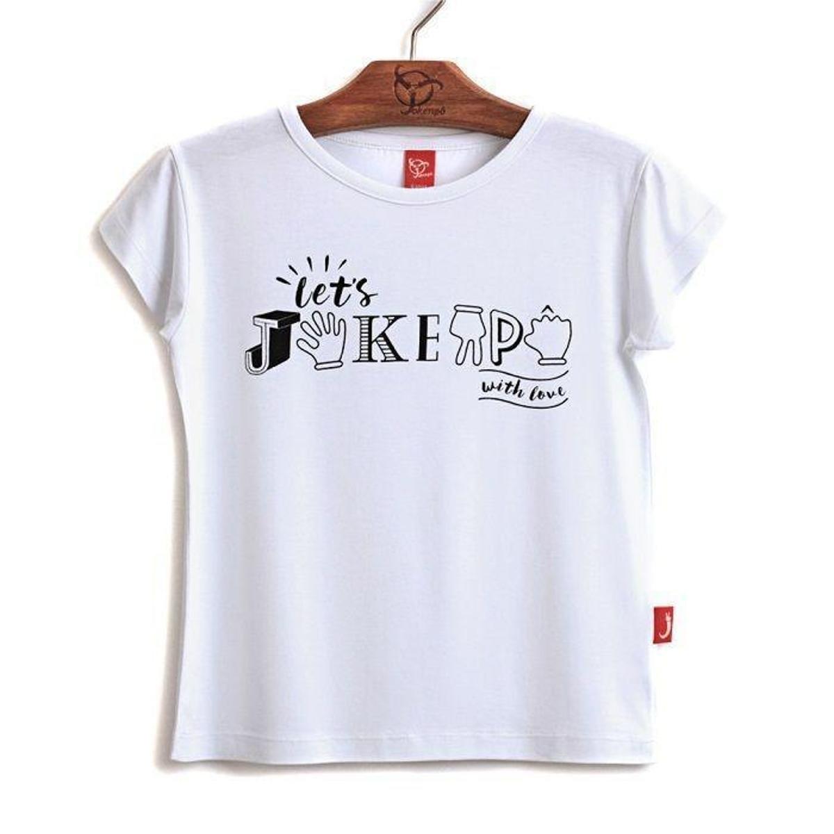 Branco Blusa Infantil Jkp Jokenpô Jokenpô Blusa Filha 7ax8qYZ