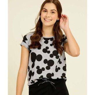 Blusa Juvenil Estampa Mickey Disney Tam 10 A 16 - 10046421579