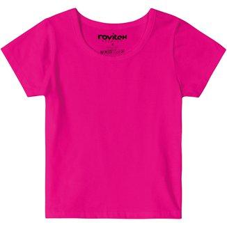 Blusa Juvenil Rovitex Cotton Básica Feminina